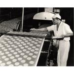 Employee checking Cornish wafers, around 1960