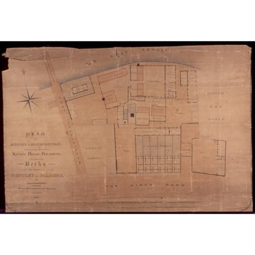 Plan of factory and surrounds, 1857